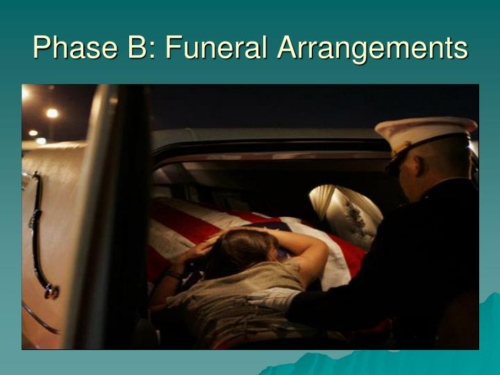 Phase B: Funeral Arrangements