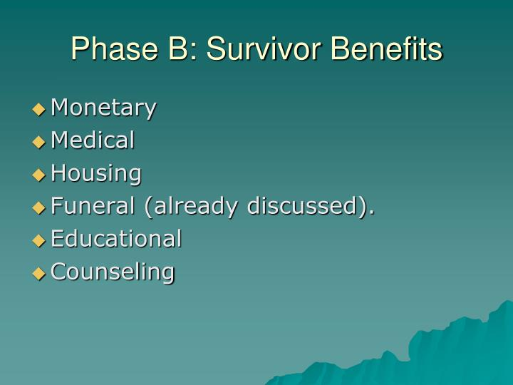 Phase B: Survivor Benefits