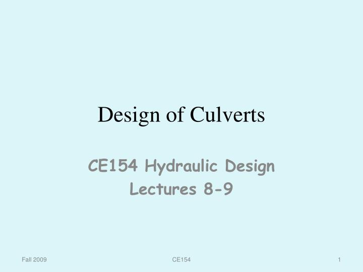 Ppt Design Of Culverts Powerpoint Presentation Free Download Id 6599658