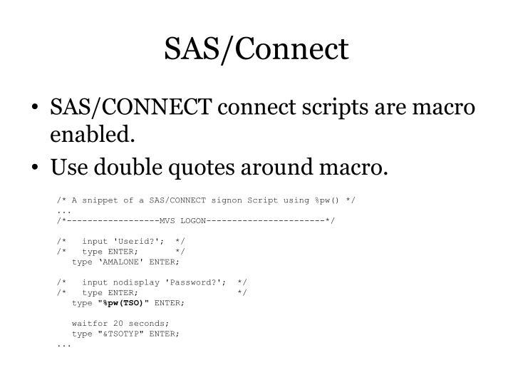 SAS/Connect