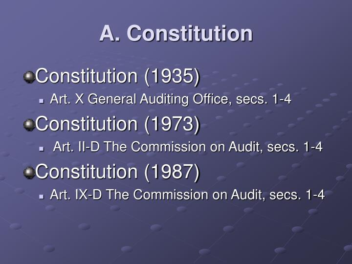 A constitution