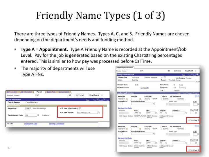 Friendly Name Types (1 of 3)