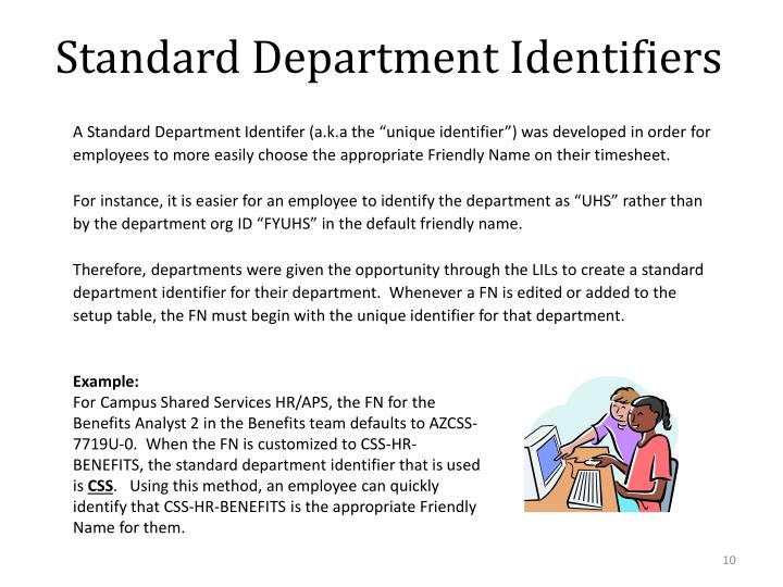 Standard Department Identifiers