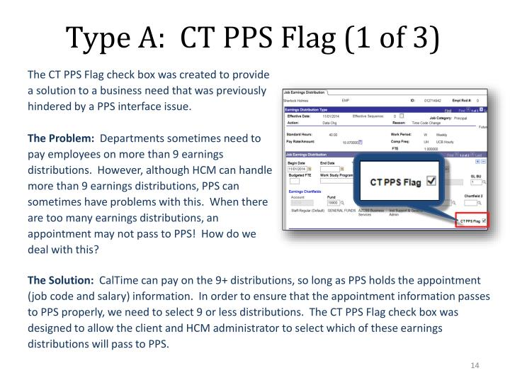 Type A:  CT PPS Flag (1 of 3)