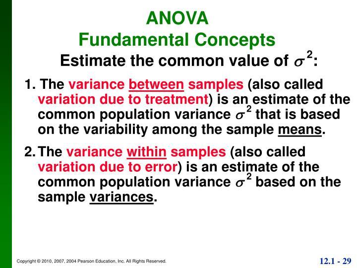 Estimate the common value of