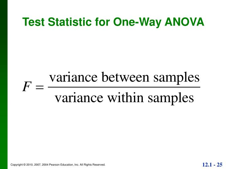 Test Statistic for One-Way ANOVA