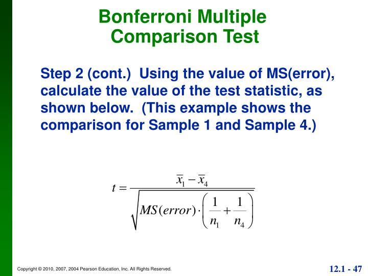 Bonferroni Multiple