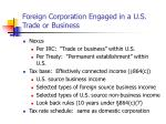 foreign corporation engaged in a u s trade or business