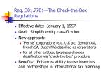 reg 301 7701 the check the box regulations