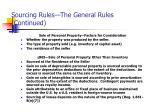 sourcing rules the general rules continued