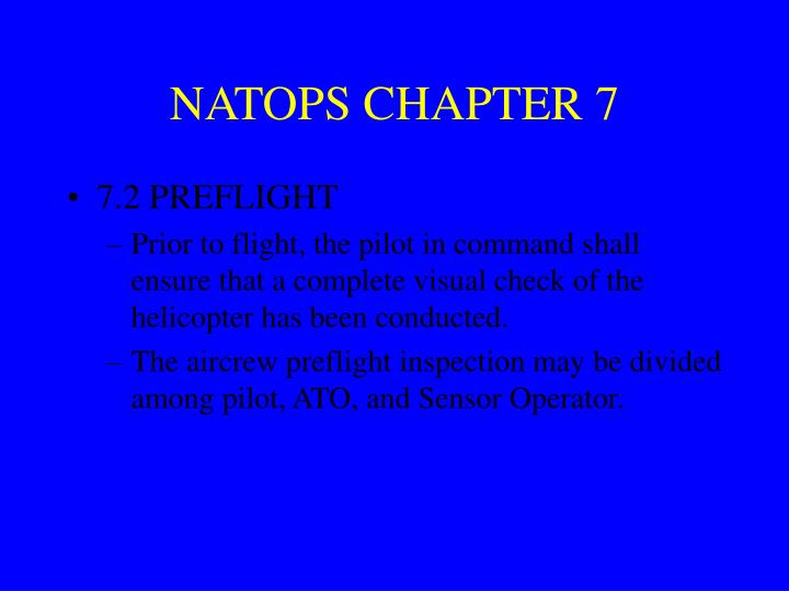 NATOPS CHAPTER 7