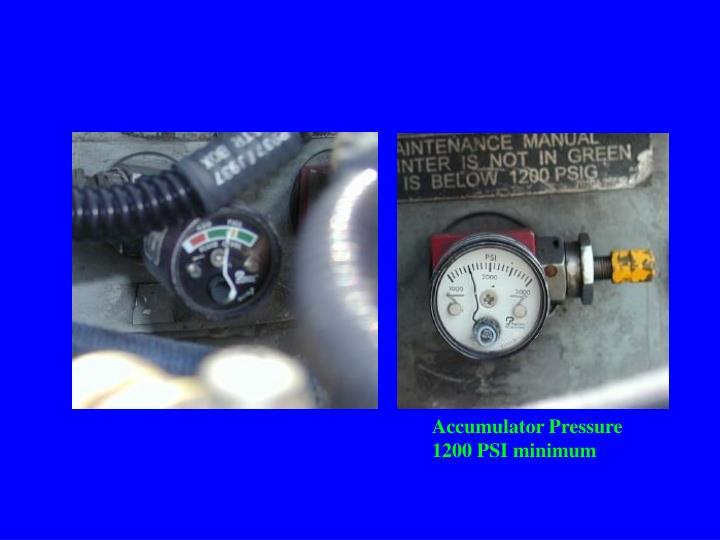 Accumulator Pressure