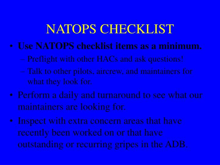 NATOPS CHECKLIST