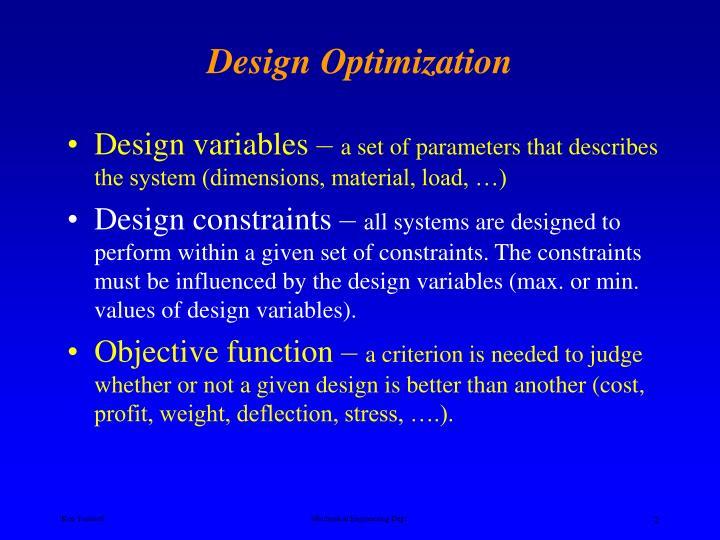 Design optimization1
