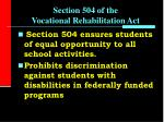 section 504 of the vocational rehabilitation act1