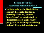 section 504 of the vocational rehabilitation act2