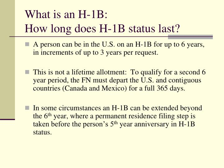 What is an H-1B: