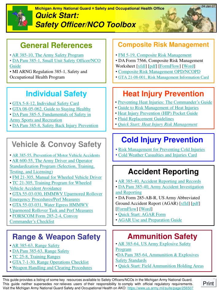 Ppt Michigan Army National Guard Safety And Occupational Health Office Powerpoint Presentation Id 6600039
