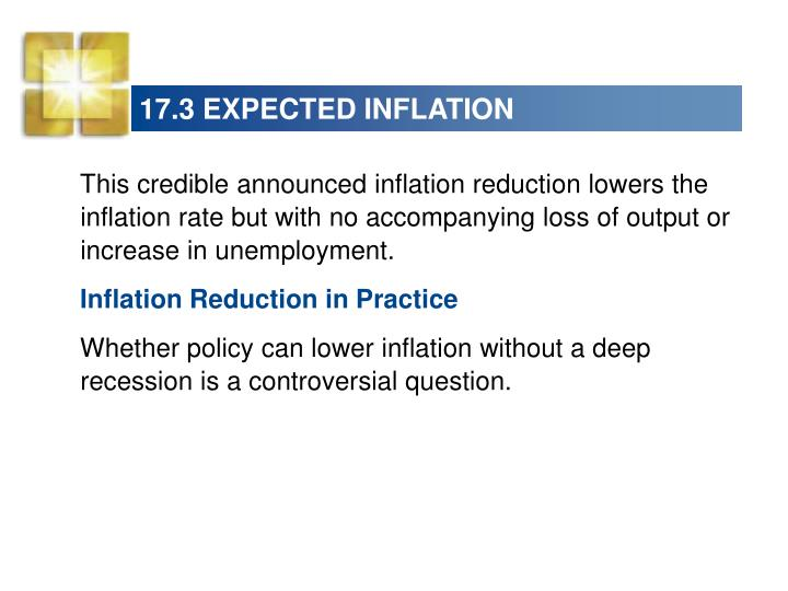 17.3 EXPECTED INFLATION