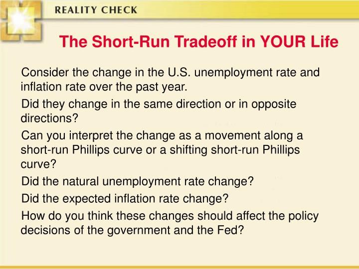 The Short-Run Tradeoff in YOUR Life