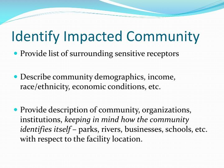 Identify Impacted Community