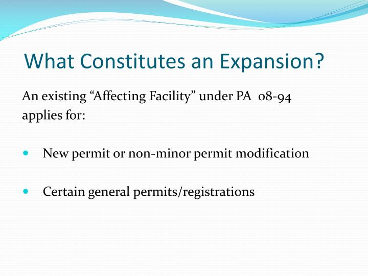 What Constitutes an Expansion?