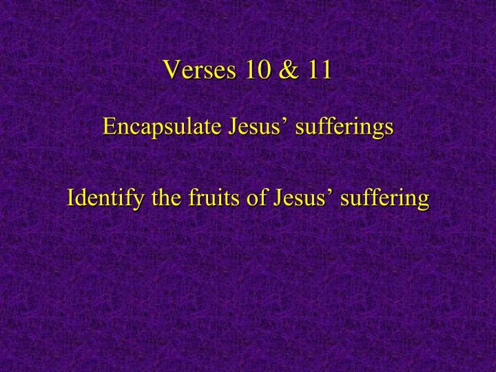 Verses 10 & 11