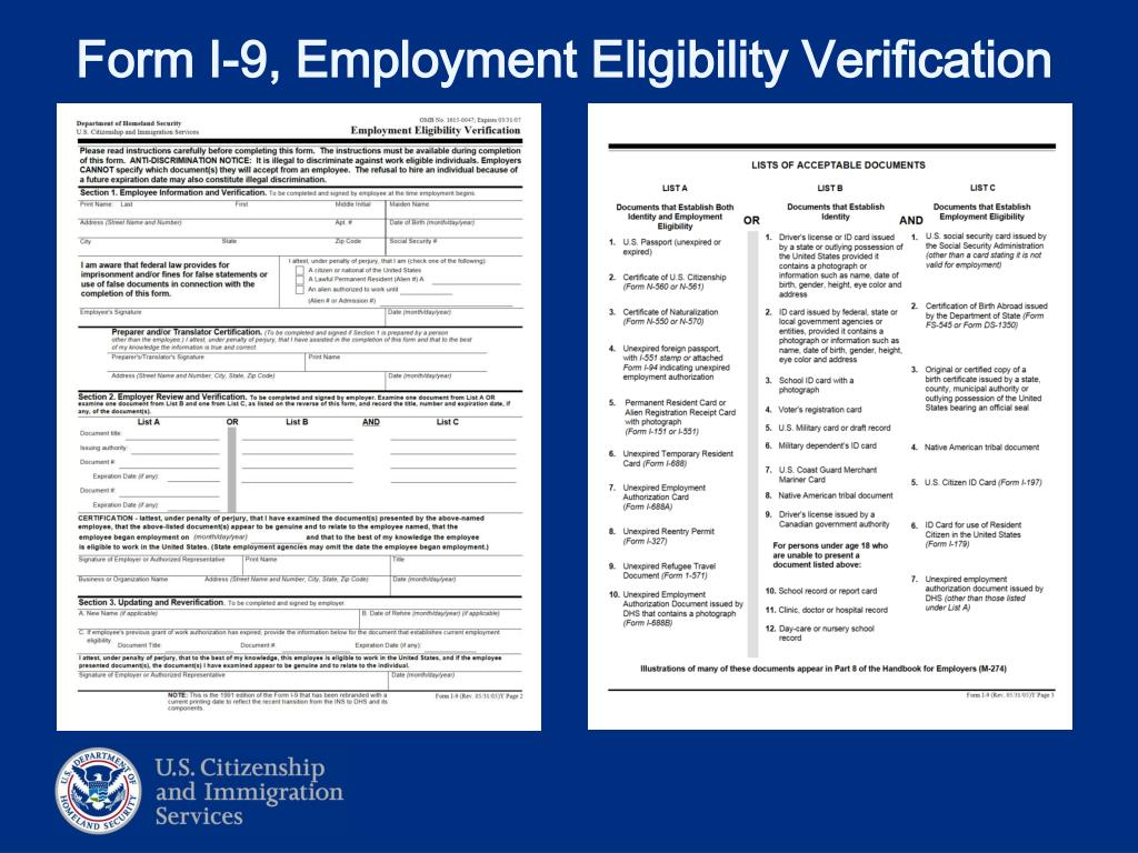 PPT - Employment Authorization Understanding the System Lisa S