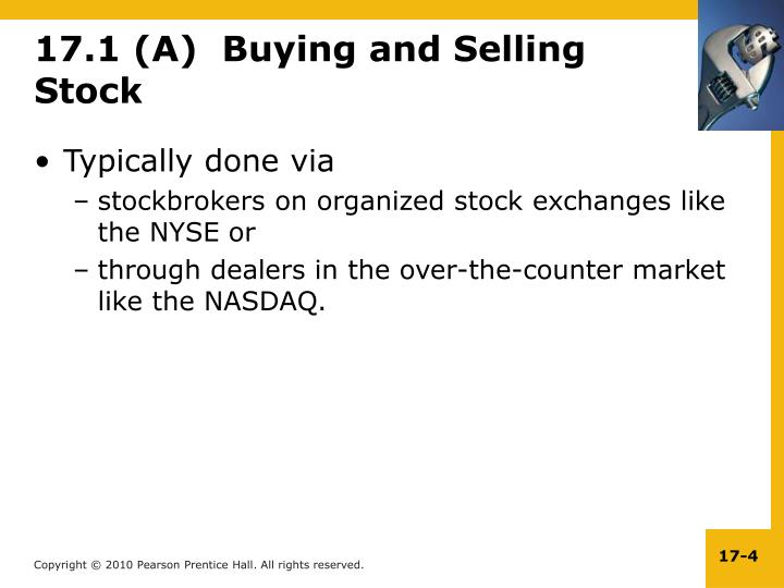17.1 (A)  Buying and Selling Stock