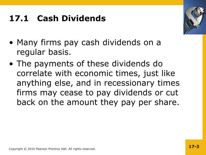 17 1 cash dividends