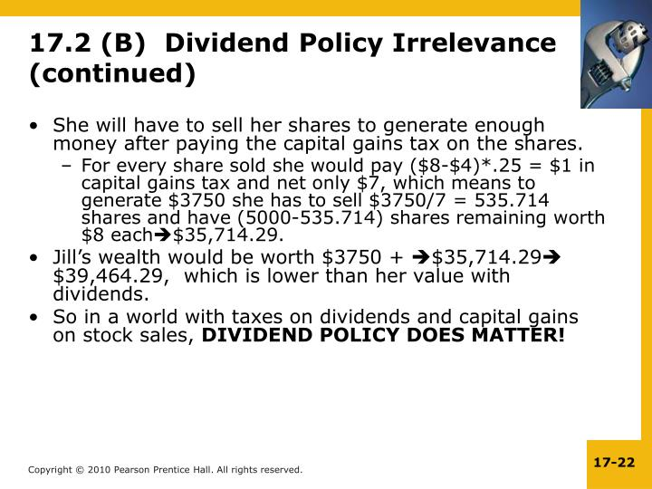 She will have to sell her shares to generate enough money after paying the capital gains tax on the shares.