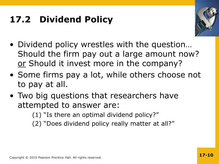 17.2   Dividend Policy