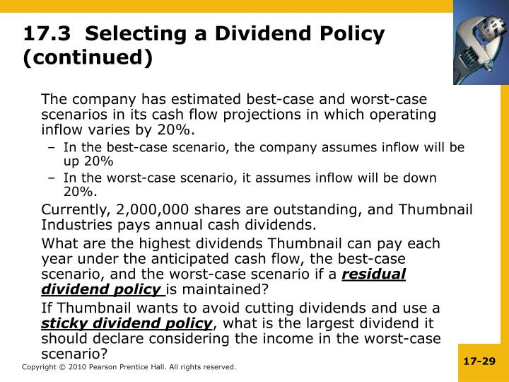 17.3  Selecting a Dividend Policy  (continued)