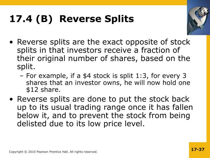 17.4 (B)  Reverse Splits
