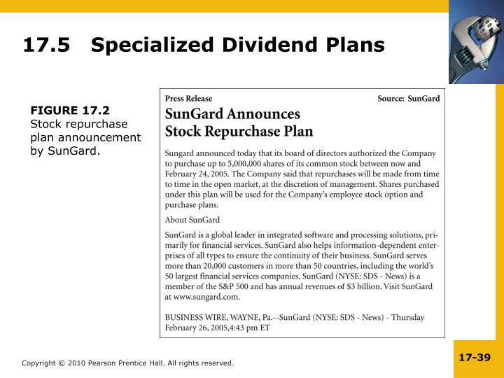17.5   Specialized Dividend Plans