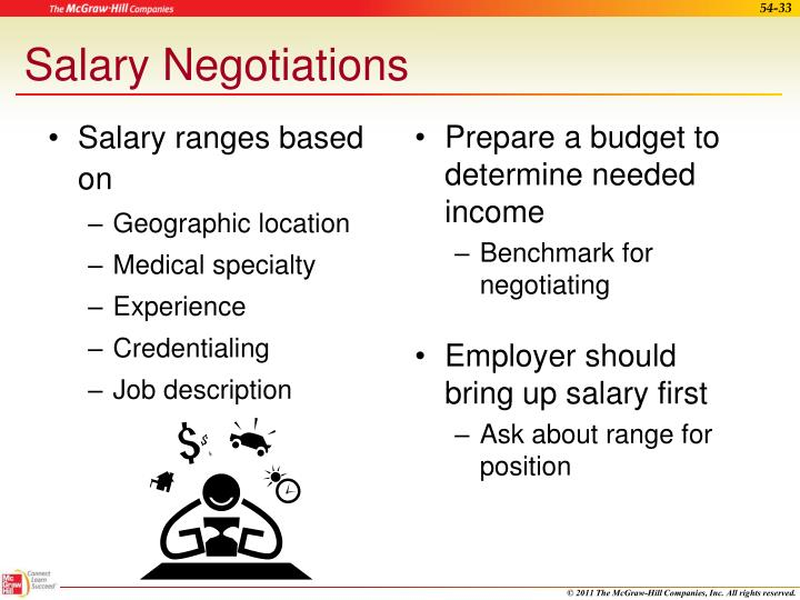 Salary ranges based on
