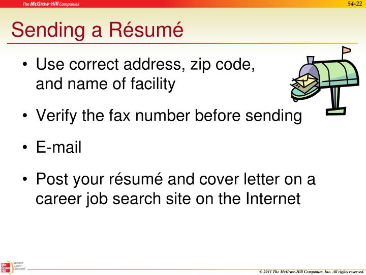 Sending a Résumé