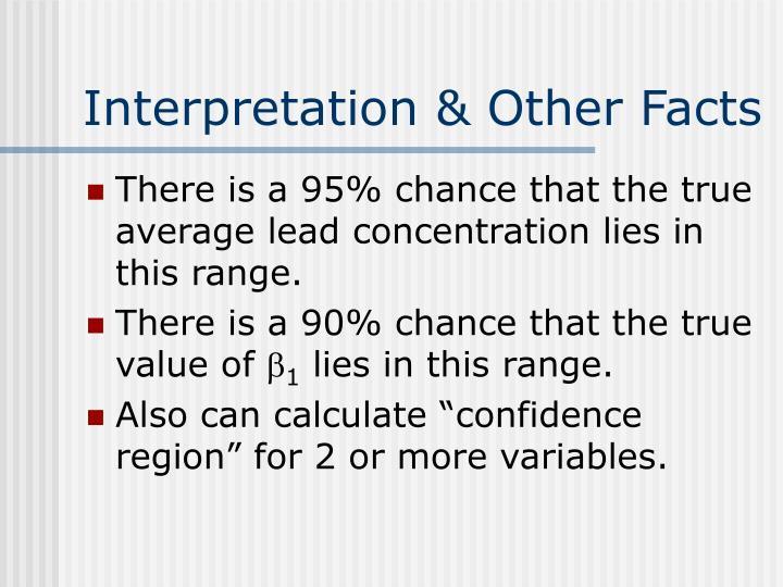 Interpretation & Other Facts