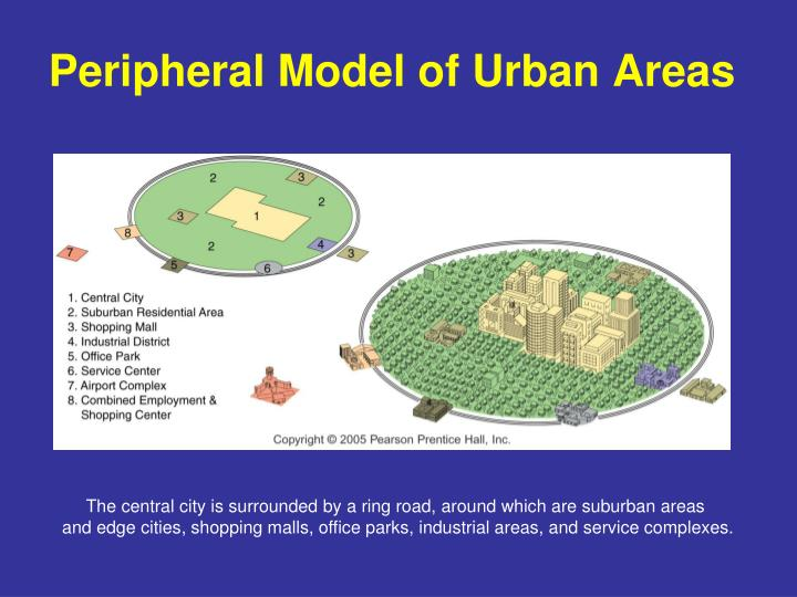 Peripheral Model of Urban Areas
