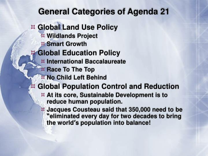 General Categories of Agenda 21