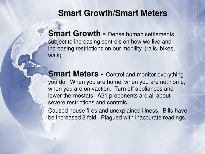 Smart Growth/Smart Meters