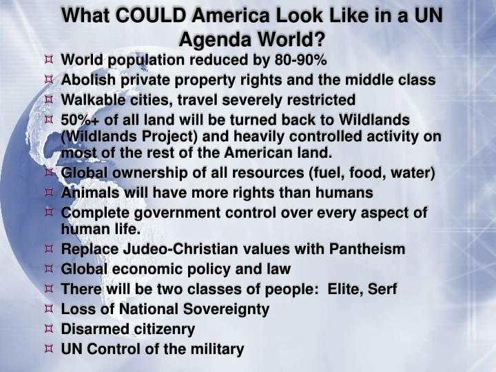 What COULD America Look Like in a UN Agenda World?
