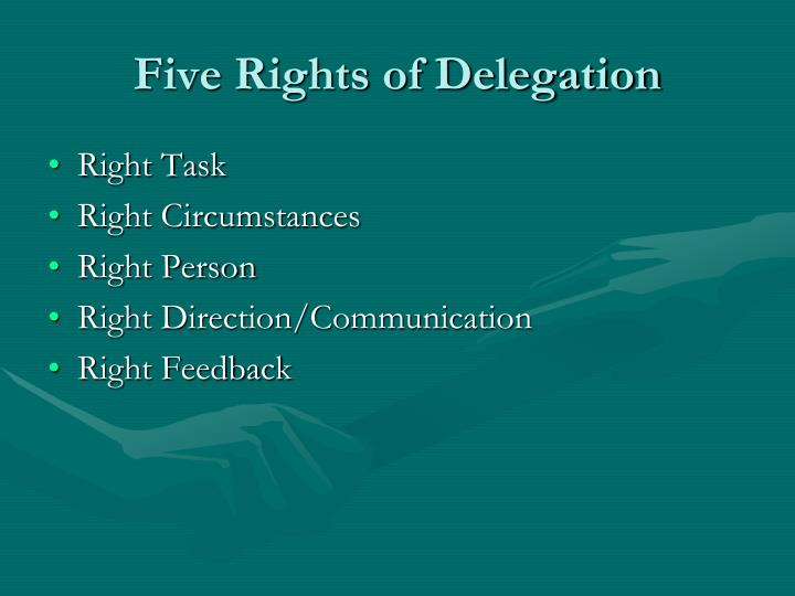 Five Rights of Delegation