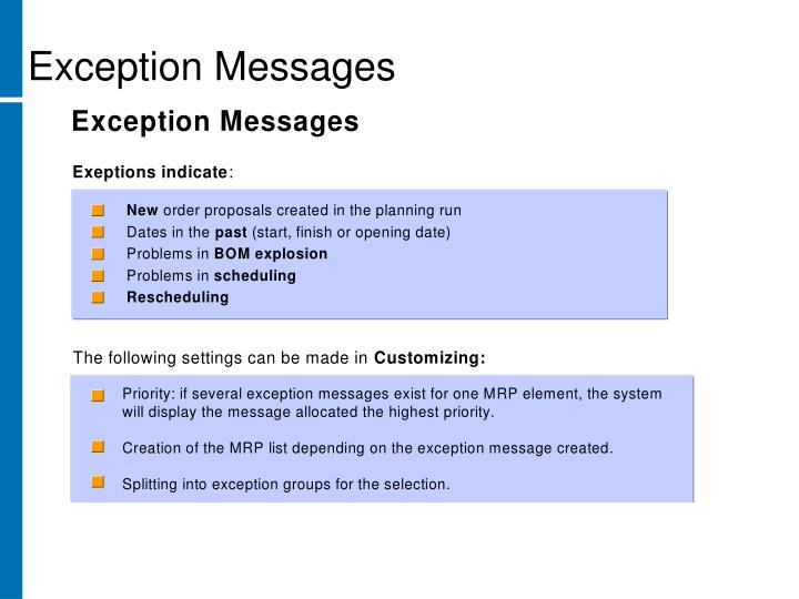 Exception Messages