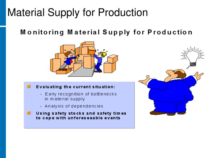 Material Supply for Production