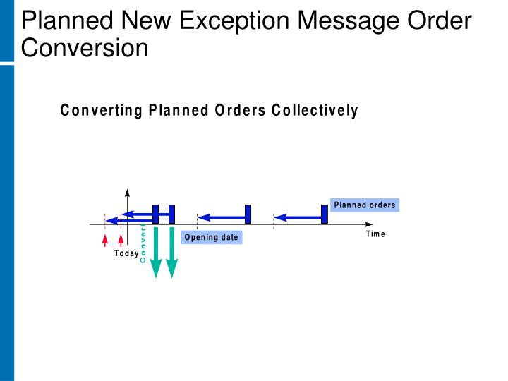 Planned New Exception Message Order Conversion
