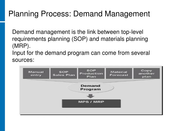 Planning Process: Demand Management