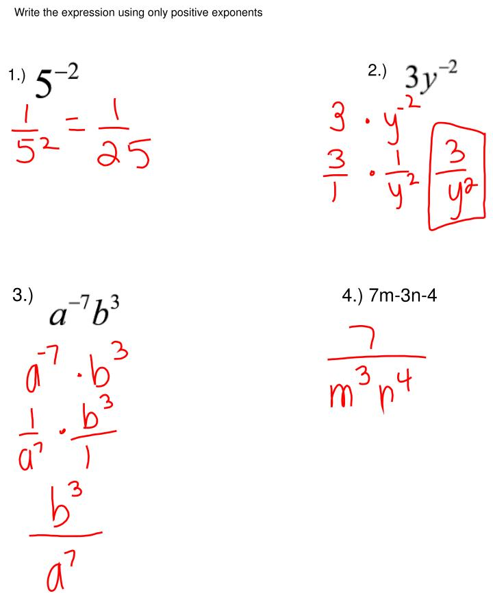 Write the expression using only positive exponents