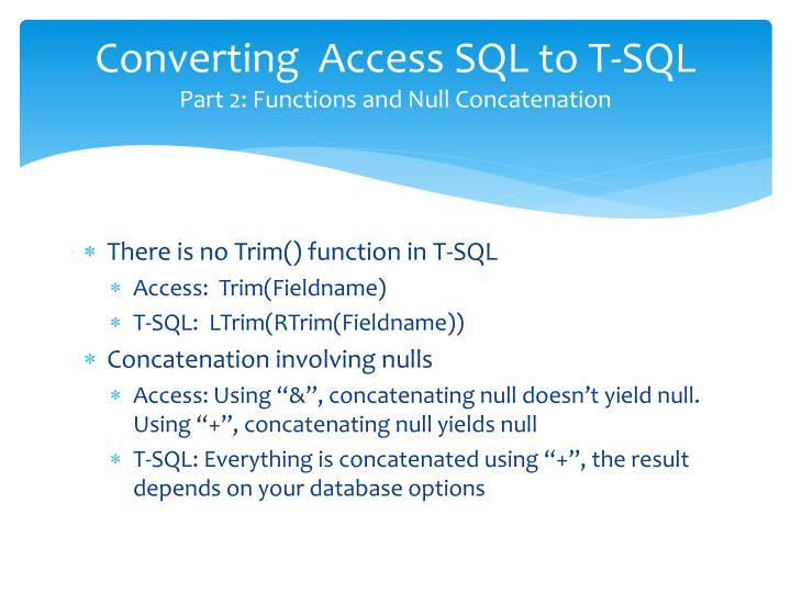 Converting  Access