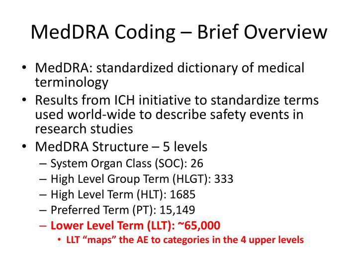 MedDRA Coding – Brief Overview